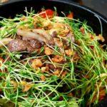 Filet de boeuf nouilles et legumes